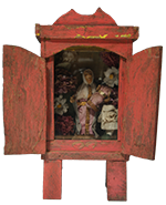 Virgin Mary and Child in Small Wooden Niche