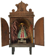 Wooden Nicho with Virgen de Juquila