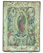 Antique Tin Nicho with Virgin Guadalupe