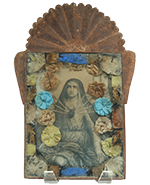 Sacred Heart in Antique Tin Nicho