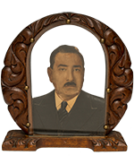 Ornate Framed Photo Sculpture of Man in Dark Suit