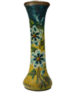 Antique Painted Glass Vase from Puebla
