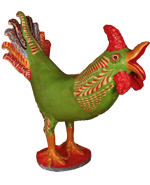 Ceramic Rooster by the Ortega Family